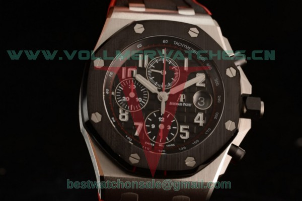 1:1 Audemars Piguet Royal Oak Offshore Chrono 3126 Auto Black Dial with Steel Case 26470SO.OO.A002CA.01 (JF)