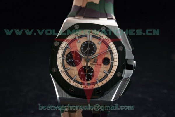 "1:1 Audemars Piguet Royal Oak Offshore 2018 SIHH ""Combat"" 3126 Auto Apricot Dial with Steel Case 26400SO.OO.A054CA.01 (JF)"