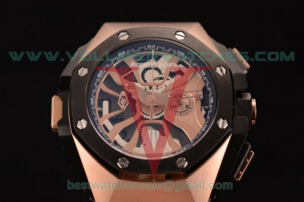 Audemars Piguet Royal Oak Concept Laptimer Michael Schumacher Limited Edition Quartz Skeleton Dial with Rose Gold Case - 26221FT.OO.D002CA.03C