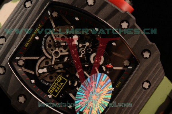 1:1 Richard Mille RM35-02 Japanese Miyota 9015 Auto Skeleton Dial With Carbon Fiber Case RM35-02(KV)